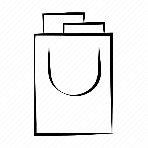 bag, gift bag, hand drawn, shopping, shopping bag icon
