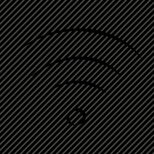 hand drawn, hot spot, internet, wi fi, wifi icon
