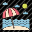 beach, sand, sandy icon