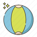 ball, beach, beach ball icon