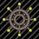 boat, boat steering, ship steering, steering icon
