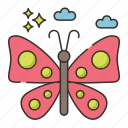 butterfly, insect icon