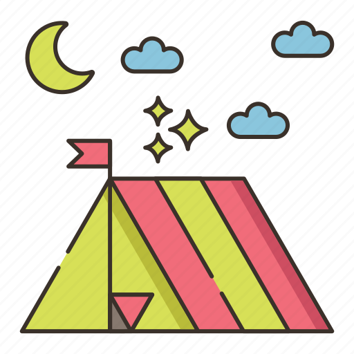 camp, campground, camping, tent, tentsite icon
