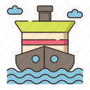 cruise, cruising, ship icon