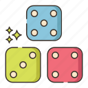 board games, dice, dice roll, game, games icon