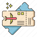 airplane, boarding pass, flight, flight ticket, ticket icon