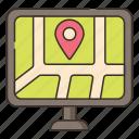 device, gps, map, navigation, navigator icon