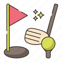 golf, golf ball, golfing icon