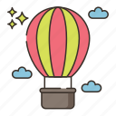 aircraft, hot air balloon icon