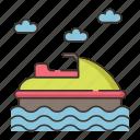 jet, jet ski, motorboat, ski, speed boat icon
