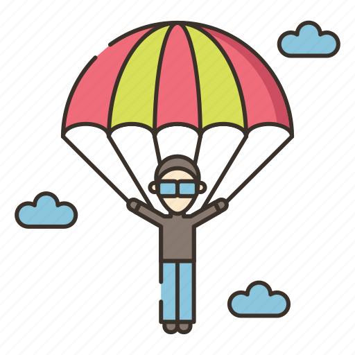 parachute, parachuter, parachuting icon