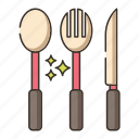 cutleries, fork, knife, restaurant, spoon, utensils icon