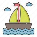 boat, ocean, sailing, sea