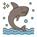 animal, ocean, sea, shark icon