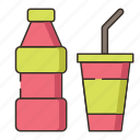 drink, soda, soda bottle, soda drink icon
