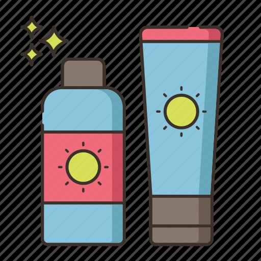 sun block, sun cream, sun lotion, sunblock icon