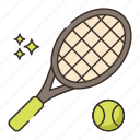 ball, racquet, tennis, tennis ball, tennis racquet icon
