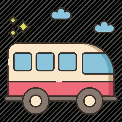 bus, coach, minivan icon