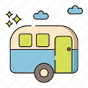 campervan, park, rv, trailer, trailer park icon