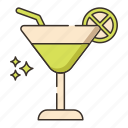 cocktail, drink, margarita, mojito icon