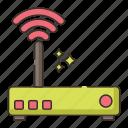 broadband, internet connection, modem, wifi, wireless icon