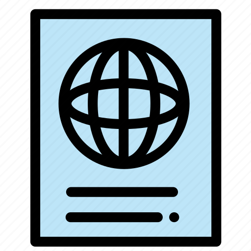 id, pasport, pass, passport, travel, visa icon