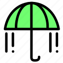 beach, protection, rain, umbrella, weather icon