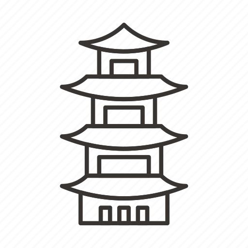 building, chinese, pagoda, shrine, synagogue, temple icon