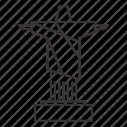 brazil, christ, de, janeiro, rio icon