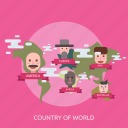 cloud, country, maps, people, state, world icon