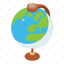 earth, element, geography, global, globe, isometric, object