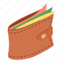 business, buy, economy, isometric, object, purse, wallet