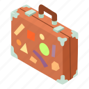 bag, baggage, isometric, luggage, object, suitcase, travel