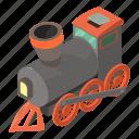 isometric, object, railroad, railway, track, train, transport