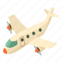 air, airplane, isometric, object, plane, travel, white
