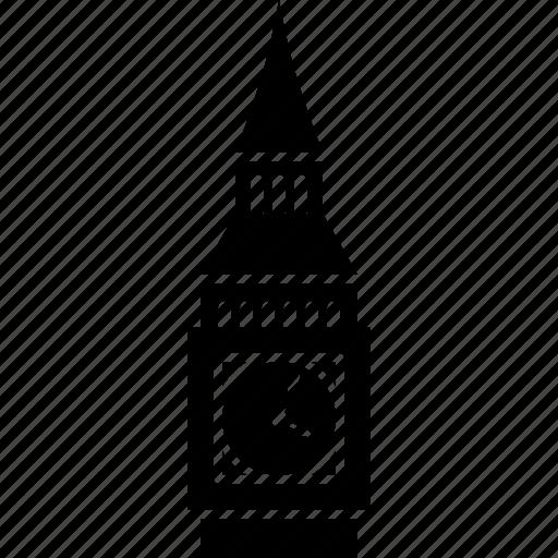 ben, big, clock, elizabeth, landmark, london, tower icon