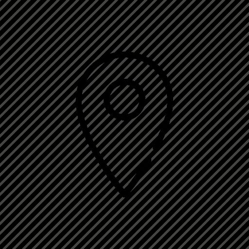 location, mark, pin icon