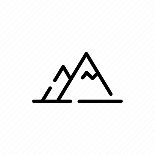 camping, hill, mountains, nature icon