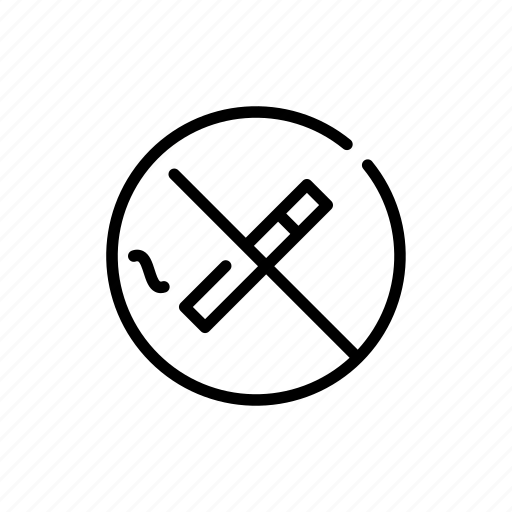 cigarette, no, prohibited, smoking icon