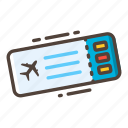 boarding pass, flight, journey, plane, ticket, tourist, travel icon