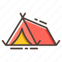 camp, camping, journey, tent, travel, vacation icon