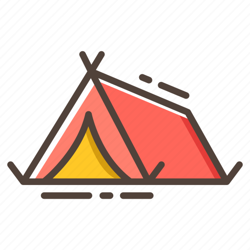 Camp, camping, journey, tent, travel, vacation icon - Download on Iconfinder