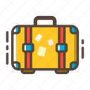 baggage, journey, luggage, suitcase, travel, traveler, vacation icon