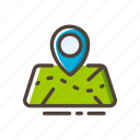 gps, location, map, navigation, pin, travel, trip icon