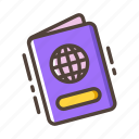 citizenship, document, identity, passport, tourist, travel, vacation icon