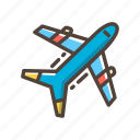 airplane, flight, plane, transportation, travel, vacation icon