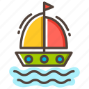 boat, sailboat, sailing ship, transportation, travel, vacation, yacht icon