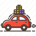 car, family, holiday, journey, travel, trip, vacation icon