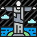 brazil, christ, landmark, landmarks, redeemer, statue, travel