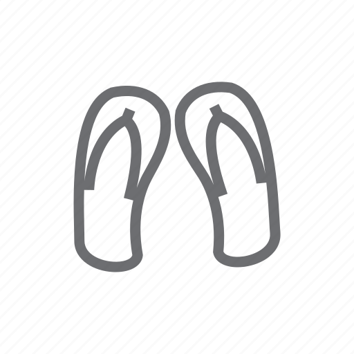 beach, footwear, holiday, sandal, shoe, traveling, vacation icon